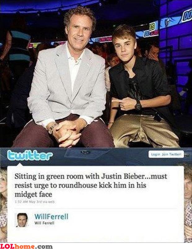 Ferrel about Bieber