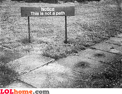 Notice: this is not a path