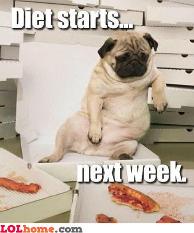 Diet starts next week