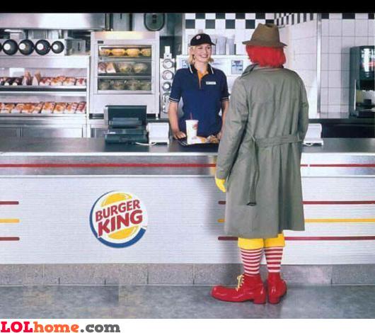 Eating at Burger King