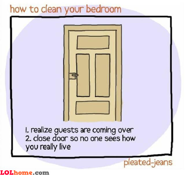 Cleaning your bedroom