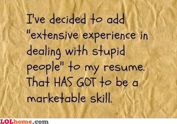 A real marketable skill
