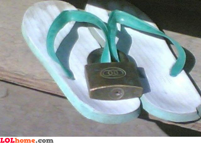 Locked slippers