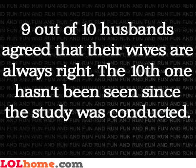 Bad luck for that husband