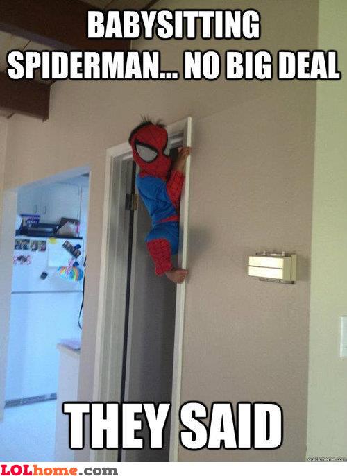 Babysitting Spider-Man