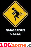 man with gases