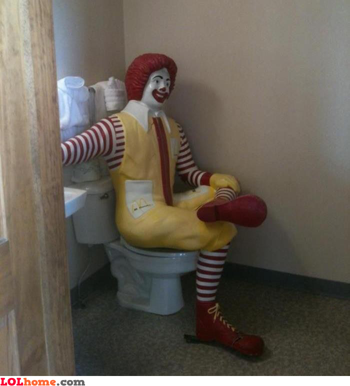 OH! No, Ronald!!