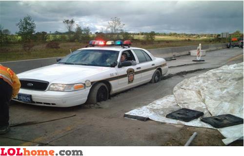 Haha, police!
