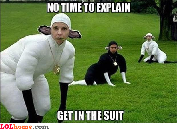 Get in the suit