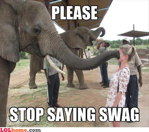 No more swag