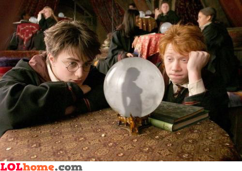 Potter fooling around