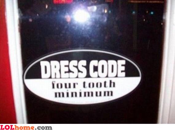 Weird dress code