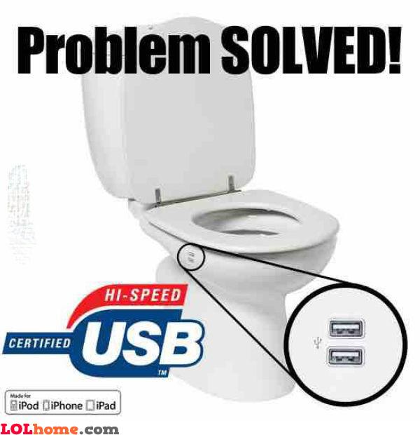 USB toilet