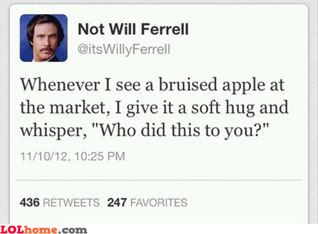 Bruised apple