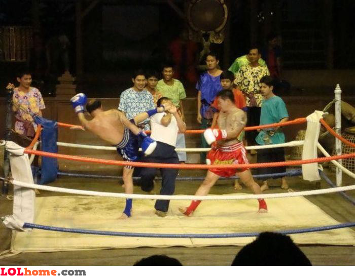 Referee not fighting