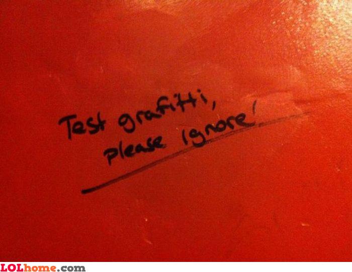 Test  graffiti