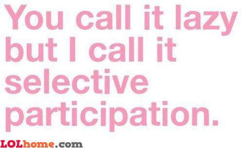Selective participation