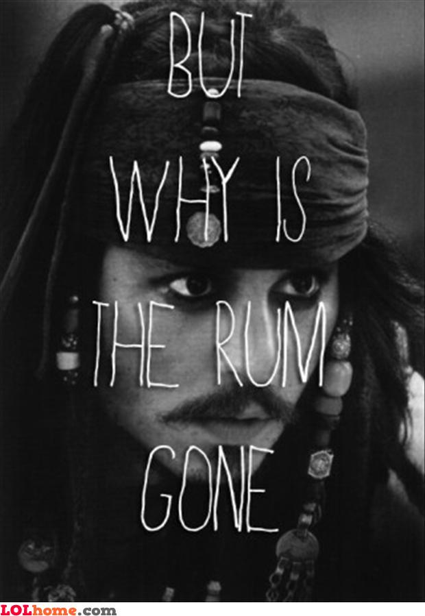 Rum, gone?