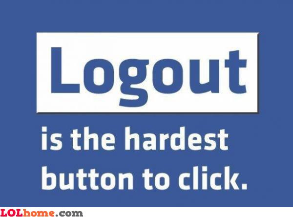 Logging out of Facebook