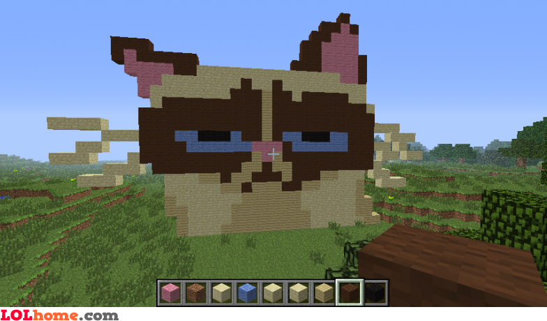 Grumpy cat in Minecraft