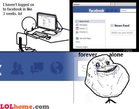 Forever alone on Facebook