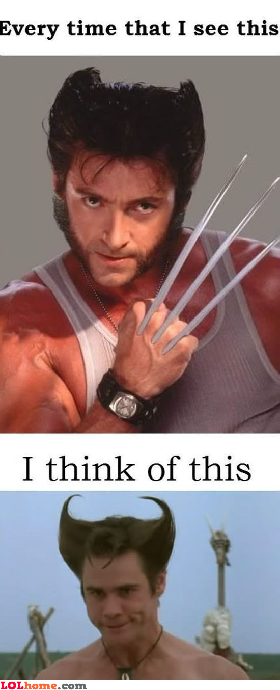 Jim Carey as the Wolverine