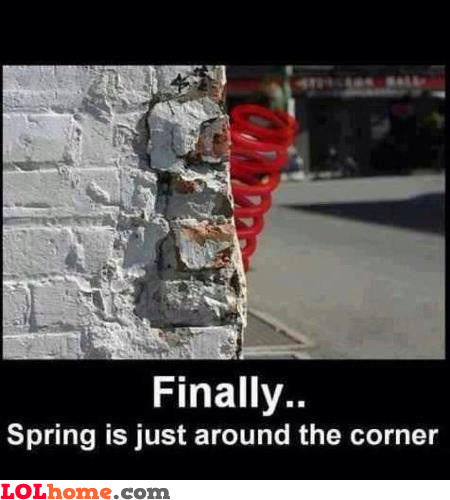 Spring's around the corner