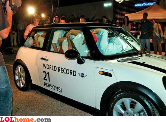 World record 21 persons