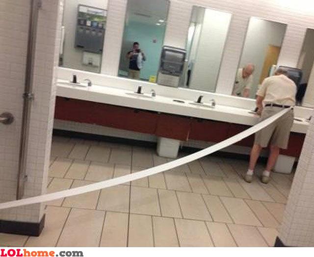 Runaway toilet paper