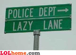 Police department, lazy lane