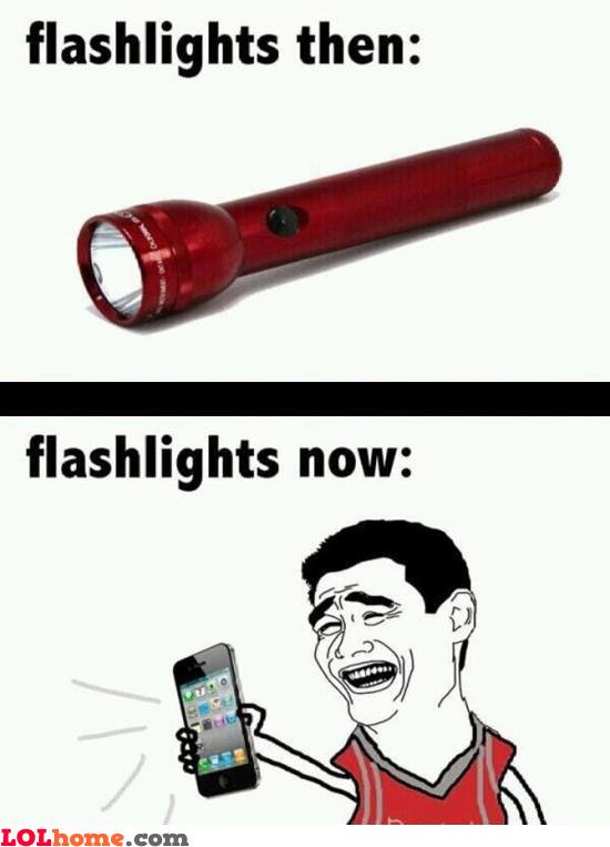 Flashlights have changed