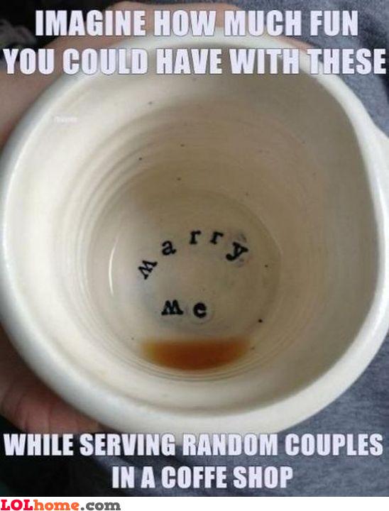 Awkward coffee moments