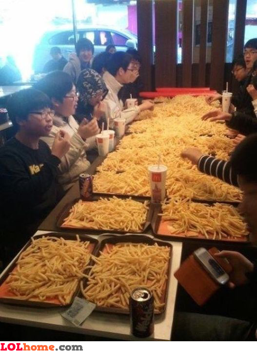 French fries party