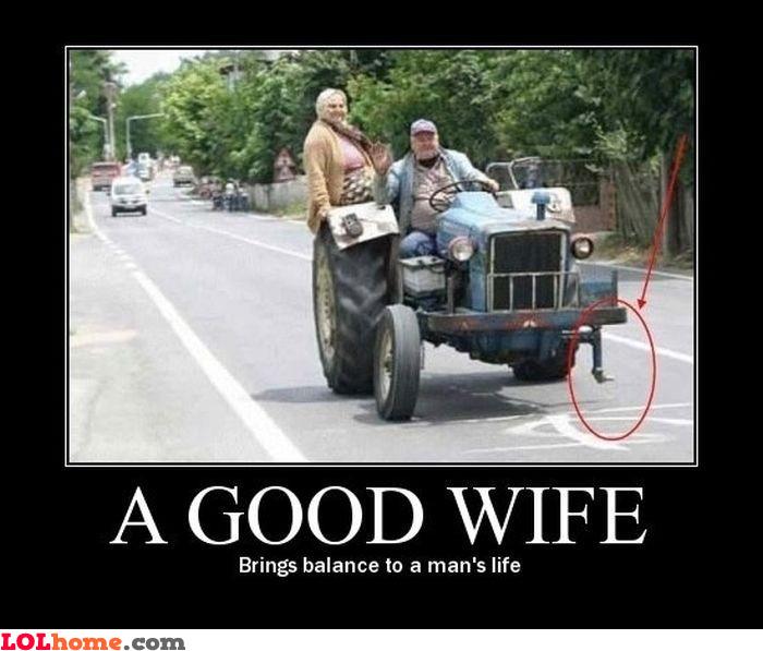 Balanced wife
