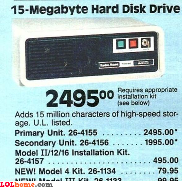 15 MB HDD