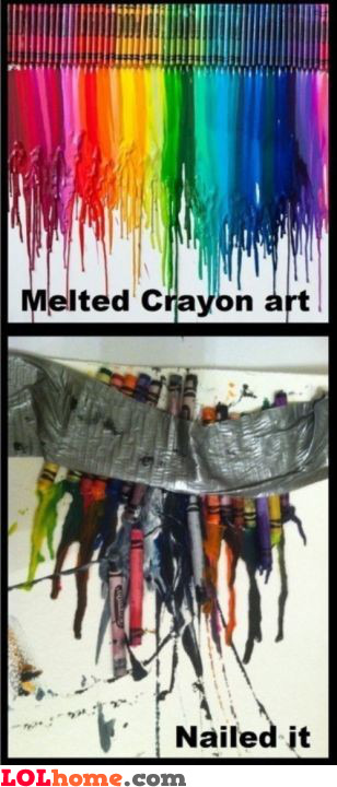 Nailed the crayon art
