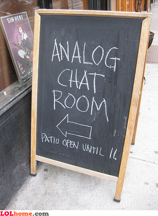Analog chat room