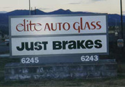 Elite Auto Glass - just brakes